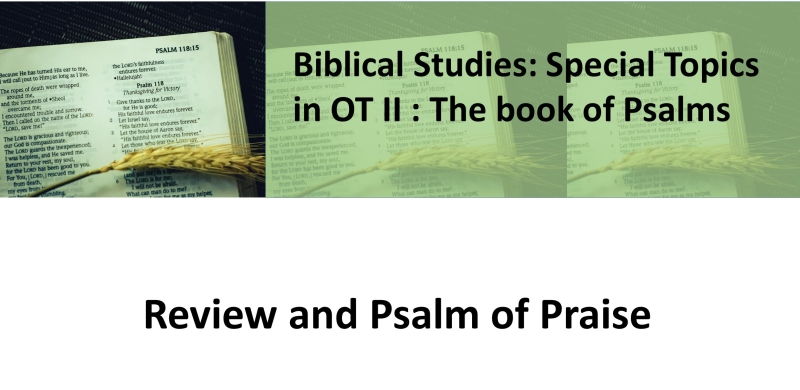 Review and Psalm of Praise