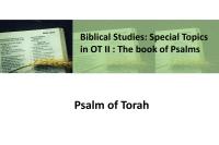 Psalm of Torah