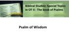 Psalm of Wisdom